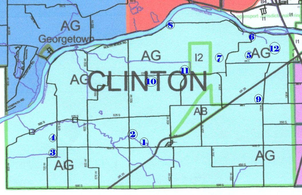 Cemeteries Of Cass County IN  Clinton Twp