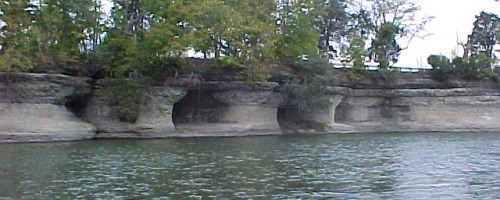 Seven Pillars Natural Rock Formation - Miami County Indiana